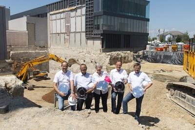 EV Group Executive Board. From left to right: Dr. Werner Thallner, Erich Thallner, Aya Maria Thallner, Hermann Waltl and Paul Lindner.