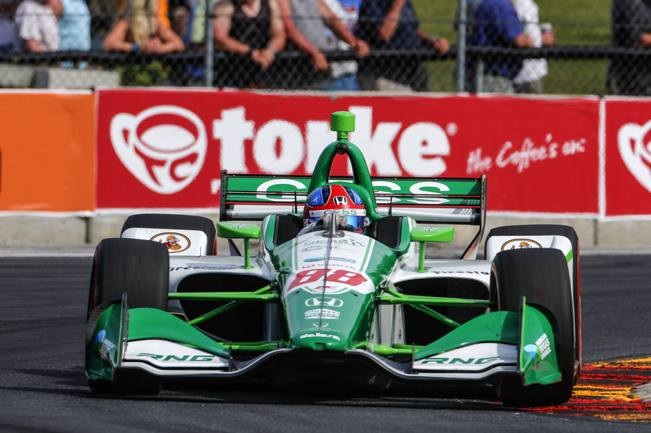 Nineteen-year-old Colton Herta became the youngest IndyCar Series pole qualifier in the history of the sport on Saturday, and will lead the field to the green tomorrow in his Harding Steinbrenner Racing Honda for the REV Group Grand Prix at Road America in Wisconsin.