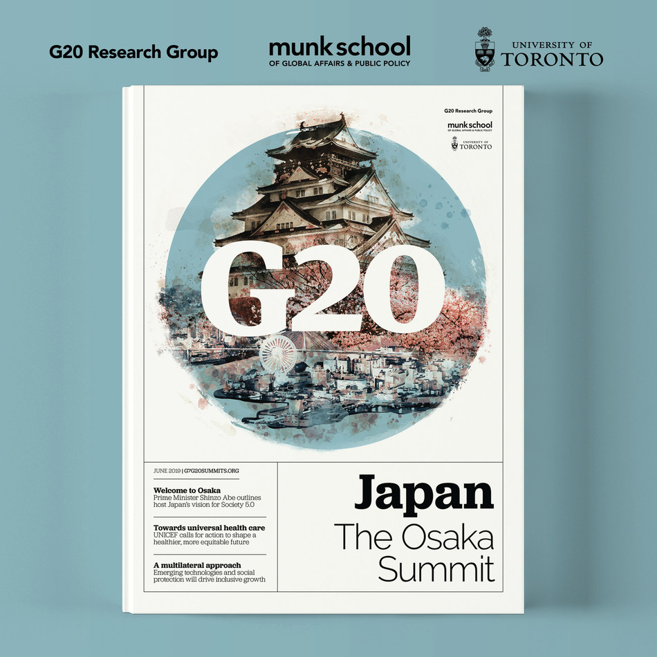 G20 Japan: The Osaka Summit publication is now available online, ahead of the summit this week.