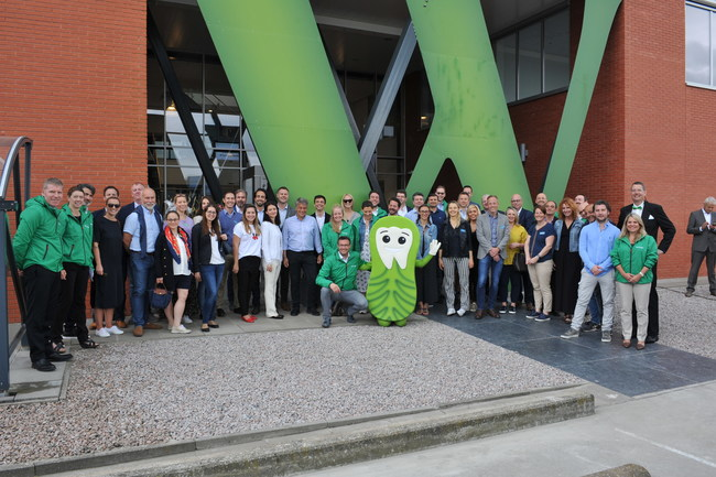 Employees and partners at WHIMZEES gathered to celebrate the grand opening of the company's new, BRC AA rated state-of-the-art manufacturing facility in Veendam, The Netherlands.