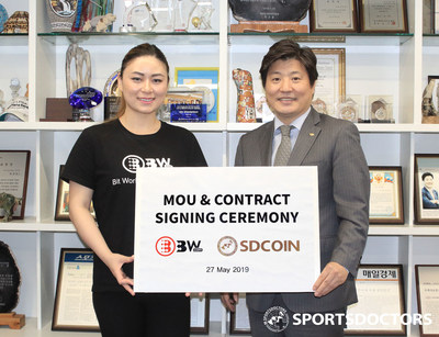 Signed contract between BW.com and SDCOIN Co., Ltd