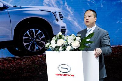 El Sr. Yu Jun, presidente de GAC Motor, presentó una actualización de su plan para entrar al mercado ruso en el Salón Internacional del Automóvil 2019 en San Petersburgo (PRNewsfoto/GAC Motor)