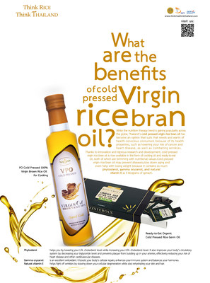 Thailand presents the Benefits of Cold Pressed Virgin Rice Bran Oil (PRNewsfoto/Department of Foreign Trade)