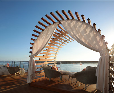 The private Galapagos Glamping cabanas on Celebrity Flora offer guests a once-in-a-lifetime camping experience on the top deck of the luxury yacht that allows them to dine, drink, and, yes, even sleep under one of the most spectacular night skies in the world.