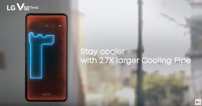 LG V50 ThinQ: Advanced Cooling Pipe System