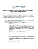 Wallbridge Exploration Drilling Intersects 3.93 g/t Gold over 20.72 metres, including 55.95 g/t Gold over 1.24 metres at Fenelon Gold Property (CNW Group/Wallbridge Mining Company Limited)