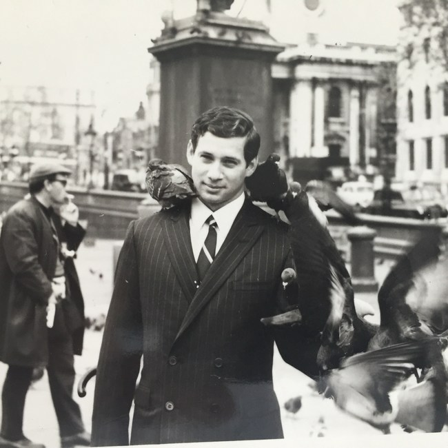 Brimming with ideas and ambition, Howie Cohen, pictured here in 1965 was the youngest copy trainee at legendary creative agency, Doyle Dane Bernbach