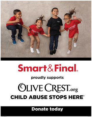 As part of an annual fundraising campaign hosted by the Smart & Final Foundation, now through July 9th, Smart & Final customers can help support the victims of child abuse with a cash register donation to Olive Crest.