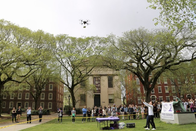 Brown University Insomnia Cookie Drone Delivery by A2Z Drone Delivery