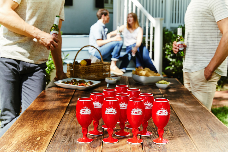 This summer Stella Artois is dethroning the OG red party cup and helping people everywhere upgrade their summer celebrations with the debut of its new Red Stella Cup. To flip to a red cup& with a stem& head to& StellaArtois.com/RedStellaCup.