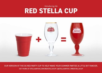 This summer Stella Artois is dethroning the OG red party cup and helping people everywhere upgrade their summer celebrations with the debut of its new Red Stella Cup. To flip to a red cup with a stem head to StellaArtois.com/RedStellaCup.