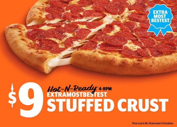Who has stuffed crust pizza