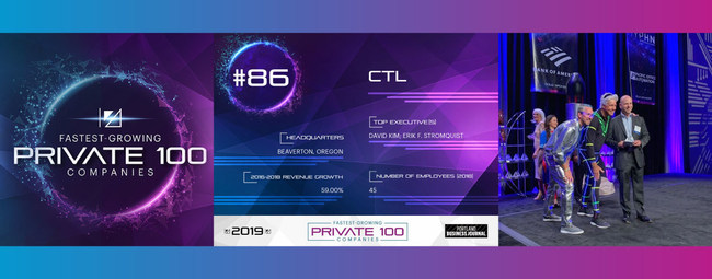 CTL placed 86th on Portland Business Journal's Fastest Growing Private 100 Companies list.