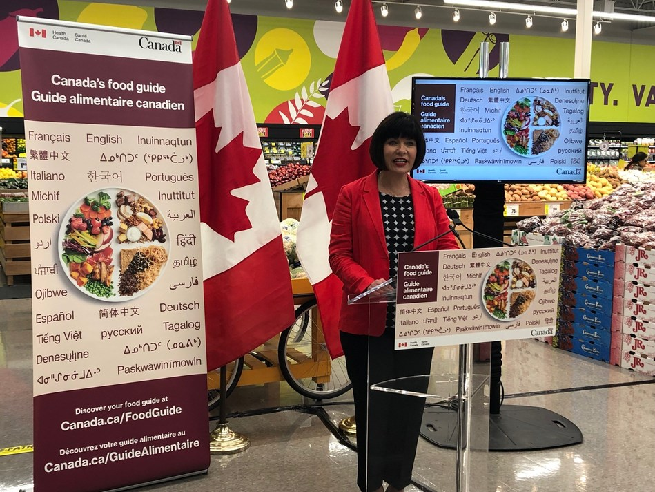 Minister of Health, Ginette Petitpas Taylor, announced the translation of Canada's Food Guide Snapshot into additional languages in Brampton, ON on June 24th. (CNW Group/Health Canada)
