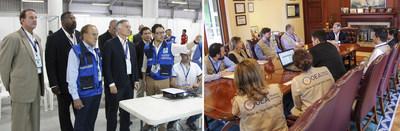 Dionisio Gutierrez con juntas electorales y la OEA