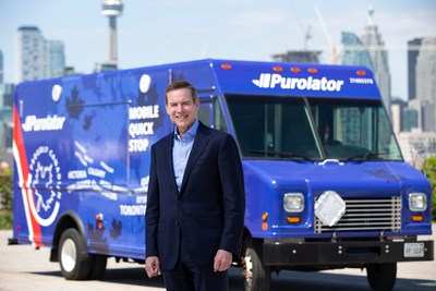 Purolator President and CEO, John Ferguson, announces $1B historic investment fuel growth and innovation in Canada. (CNW Group/Purolator Inc.)