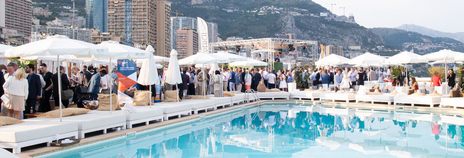 Pre Summit Sunset Networking Reception Hosted by Chainstarter Ventures at the Rooftop Terrace at the Fairmont Monte Carlo Hotel.