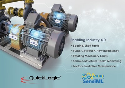 AI Solution for Industrial Sensor Endpoints - Multi-core SoC with FPGA and end-to-end AI software toolkit - SensiML Analytics Toolkit + QuickLogic's Merced HDK Enable Fast AI Endpoint Solution Development. A Complete End-to-End HW and SW Solution for Time Series Sensors.