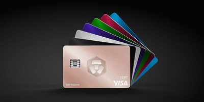 Card design features the iconic Crypto.com logo and adds the Frosted Rose Gold card