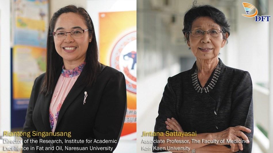 Riantong Singanusang, Director of the Research Institute for Academic Excellence in Fat and Oil, Naresuan University, and Jintana Sattayasai, Associate Professor at Khon Kaen University