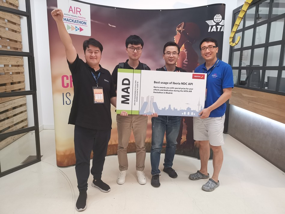 PKFARE Team Won the Best Usage of Iberia NDC API at IATA Hackathon