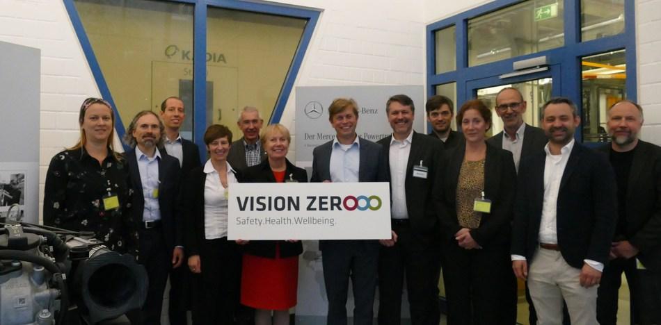 EU-OSHA staff with Daimler's health and safety representatives