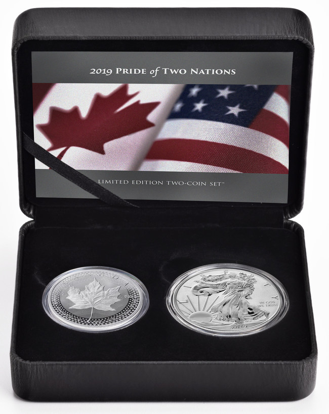The 2019 Pride of Two Nations Limited Edition Two-Coin Set (CNW Group/Royal Canadian Mint)