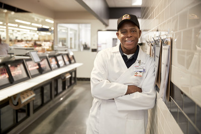 "Scrutinizing the meat counter at the Indianapolis Meijer on Keystone Ave. to make sure it looks ""pretty"" is part of the daily grind for Tyrone Bray. He's among a handful of Meijer employees featured this year in TV commercials across the Midwest that showcase what they do, their knowledge and the retailer's standards and commitment to quality."