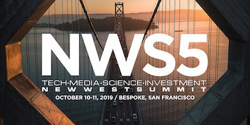 New West Summit 5 will be held from October 10-11, 2019 at Bespoke Event Center in San Francisco, California.