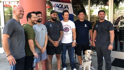 Mark Wahlberg and Wounded Warrior Project® (WWP) partner AQUAhydrate™ promoted physical health and wellness for wounded veterans at a recent F45 Training workout in West Hollywood, California. Wounded warriors participated and spent time with Mark and brands that are passionate about veterans.