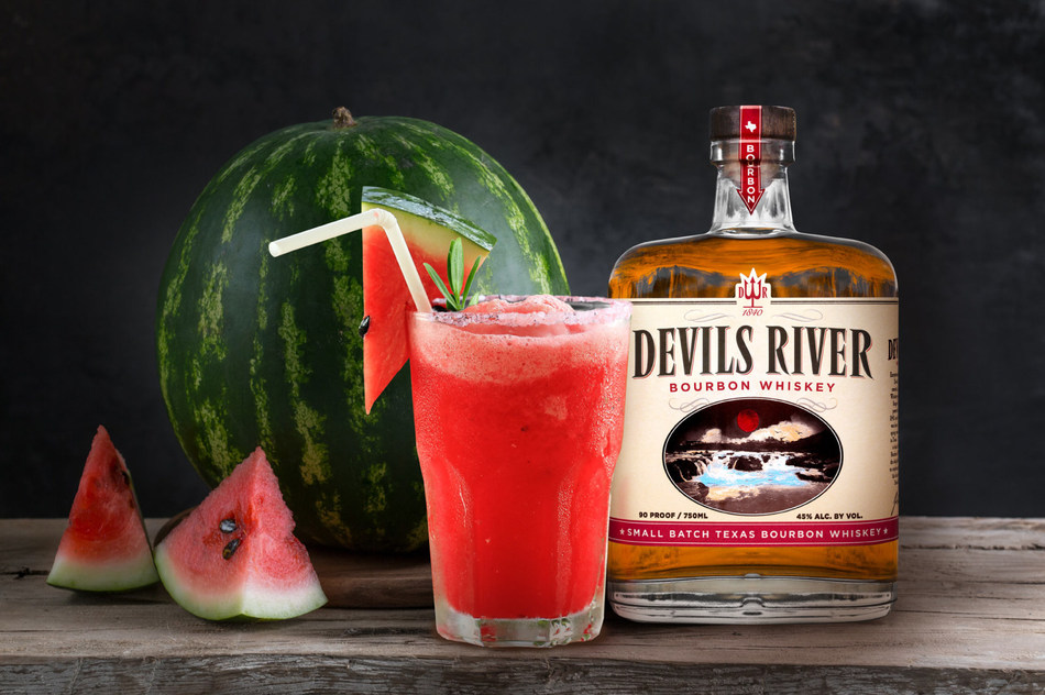 Watermelon Fizz is dangerously bold as it combines Devils River 90-proof Bourbon with the rich flavor of Peach Schnapps, lime juice, watermelon, thyme, and ginger beer to create the ideal pool-side aperitif.