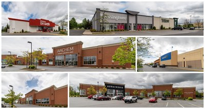 Pictures of the key tenants located at the acquired property in Saint-Bruno, Québec (CNW Group/BTB Real Estate Investment Trust)