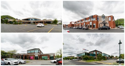 Office and commercial properties acquired by the REIT in Mont-Saint-Hilaire, Québec (CNW Group/BTB Real Estate Investment Trust)