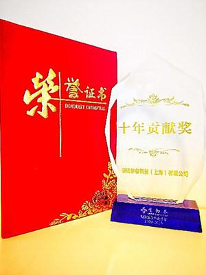 Decade of Contribution Award