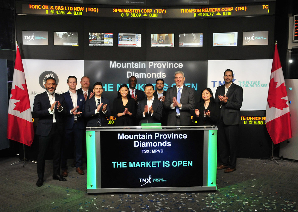 Mountain Province Diamonds Inc. Opens the Market (CNW Group/TMX Group Limited)