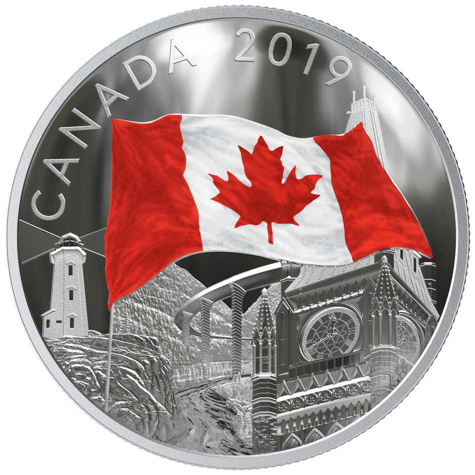 """The Royal Canadian Mint's """"Fabric of Canada"""" silver collector coin (CNW Group/Royal Canadian Mint)"""