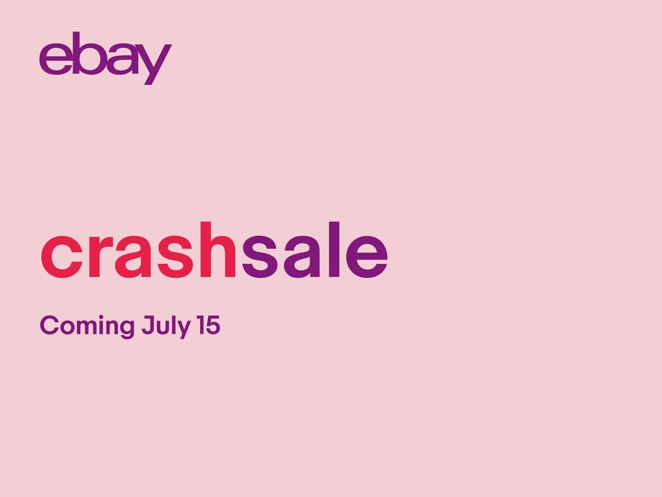 eBay will launch a Crash Sale beginning July 15 with summer savings on top brands and an additional wave of can't miss deals if Amazon crashes that day. Stay tuned for more details and even more chances to save throughout July.