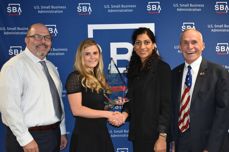 The Surety Place awarded National Surety Agency of the year by the SBA for the 2018 fiscal year *From left to right Aksel Firat, President The Surety Place, Megan Runde, VP of Contract Underwriting The Surety Place, Shavani Dubey, Deputy District Director Arizona District Office U.S. Small Business Administration, James Pipper, Lead Economic Development & District Surety Bond Guaranty Officer Arizona District Office U.S. Small Business Administration