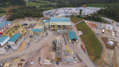 Figure 3. Process plant construction 80% complete as at May 31, 2019 (CNW Group/Lundin Gold Inc.)