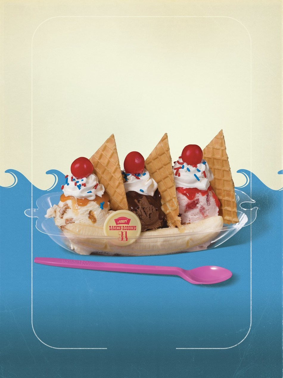 The USS Butterscotch Sundae is a three-scoop sundae straight from the Stranger Things Scoops Ahoy shop, and is just one of the Stranger Things that is happening at Baskin-Robbins this summer. Stranger Things 3 starts July 4 only on Netflix. For more information, visit www.baskinrobbins.com/strangerthings.