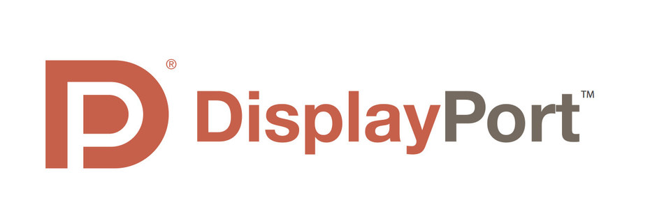 DisplayPort logo. DisplayPort delivers higher resolution, faster refresh rates, and deeper colors over a single cable.