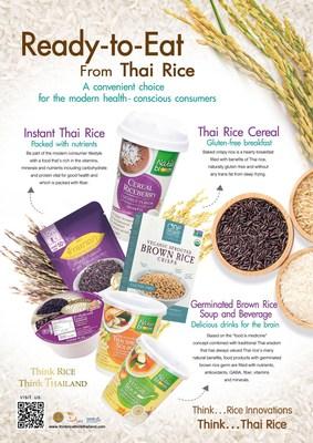 La Thaïlande lance des produits rizicoles thaïlandais, prêts à consommer, offrant un choix pratique aux consommateurs modernes soucieux de leur santé.