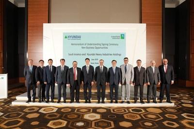 Photo of Executives of Saudi Aramco and HHIH