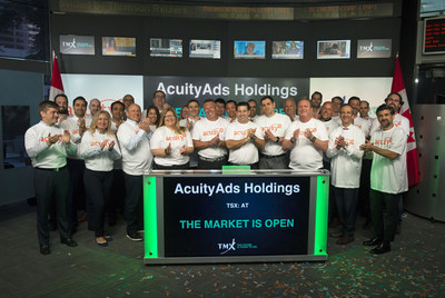 AcuityAds Holdings Inc. Opens the Market (CNW Group/TMX Group Limited)