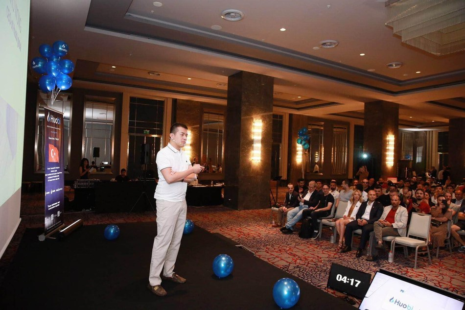 Huobi Global CEO, Livio Weng, in Turkey