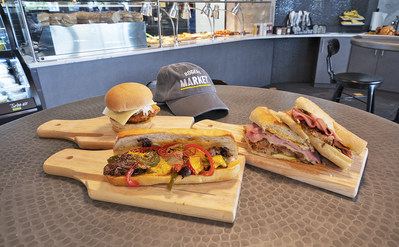 Specialty sandwich offerings at Rogers Market C-Store.