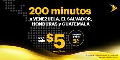 Sprint ofrece llamadas internacionales simples y accesibles a Colombia, El Salvador, Honduras, Guatemala y Venezuela