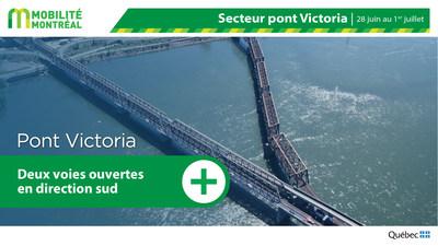 Circulation pont Victoria - FDS 28 juin (Groupe CNW/Ministère des Transports)
