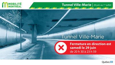 Fermeture TVM pour les feux d'artifice - FDS 28 juin (Groupe CNW/Ministère des Transports)