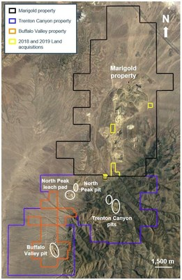Figure 1: Location of the Trenton Canyon, Buffalo Valley and Marigold properties in Nevada, U.S. (CNW Group/SSR Mining Inc.)
